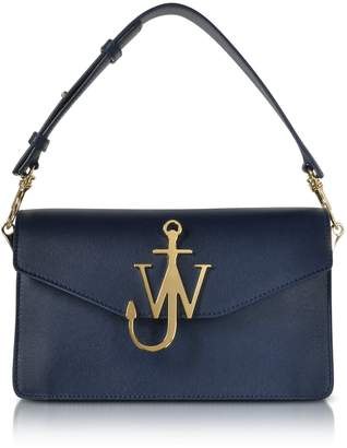 J.W.Anderson Navy Blue Leather Logo Purse