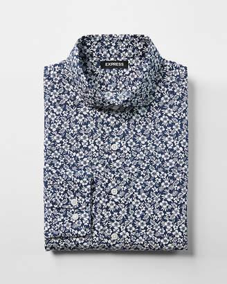 Express Slim Tropical Floral Dress Shirt