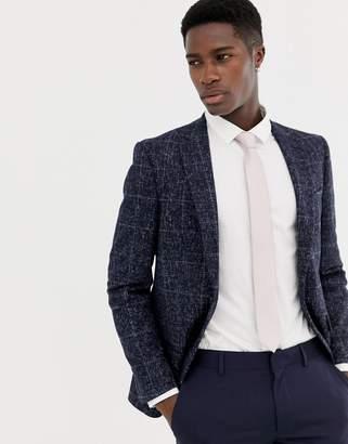 Moss Bros skinny blazer in speckled check