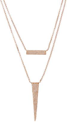 Diana M . Fine Jewelry 14K Rose Gold 0.47 Ct. Tw. Diamond Layered Necklace