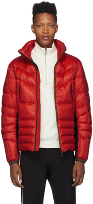 Moncler Red Canmore Puffer Jacket