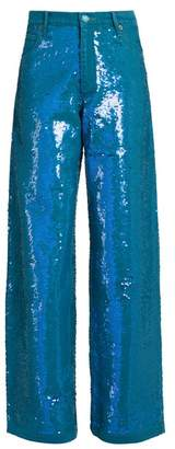 Ashish Sequin-embellished wide-leg jeans