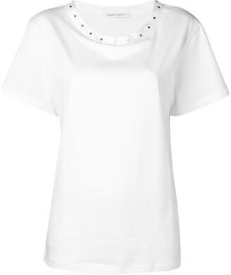 Alberta Ferretti studded collar T-shirt