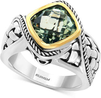 Effy Balissima Prasiolite Ring (3-1/10 ct. t.w.) in Sterling Silver and 18k Gold