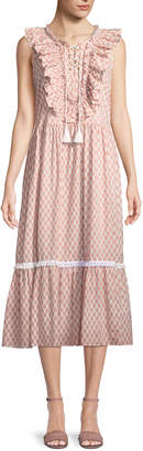 Kate Spade arrow stripe dress w/ lace-up front