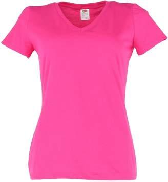 Fruit of the Loom Ladies 5 Oz HD Cotton V-Neck T-Shirt - S - (Style # L39VR - Original Label)
