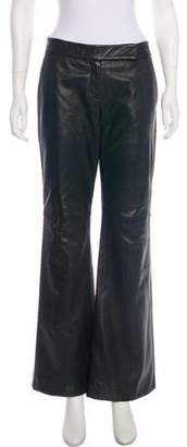 Theory Low-Rise Leather Pants