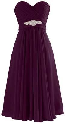 ThaliaDress Women Short Chiffon Sweetheart Evening Bridesmaid Dresses Prom Gowns T003LF US