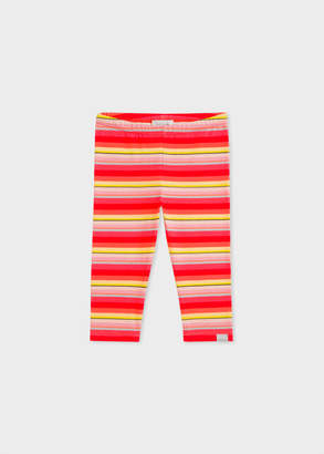 Paul Smith Baby Girls' Multi-Coloured Stripe Leggings