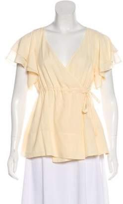Diane von Furstenberg Silk-Blend Short Sleeve Blouse