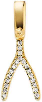 Michael Kors Women's Custom Kors Pavé 14K Gold-Plated Sterling Silver Wishbone Charm