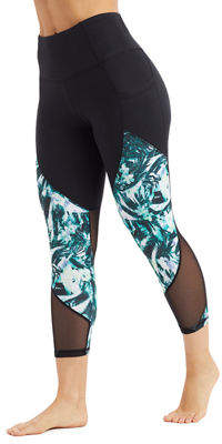 The Balance Collection Nola Mesh-Calf Capri Leggings