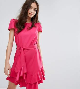 Miss Selfridge Exclusive Tie Waist Ruffle Dress
