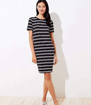 LOFT Striped Tee Dress