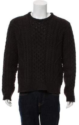 Calvin Klein Collection Camel Mohair Crew Neck Sweater