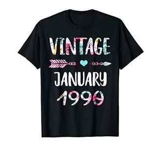 Vintage January 1990 29th Birthday Shirt Women Floral shirt