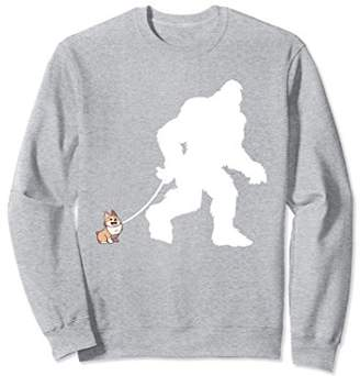 Corgi Bigfoot Walking Funny Sasquatch Sweatshirt