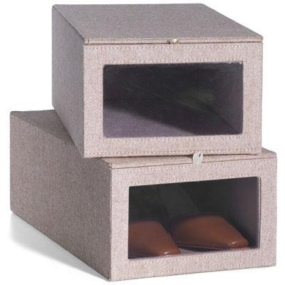 Tweed Drop-Front Shoe Box