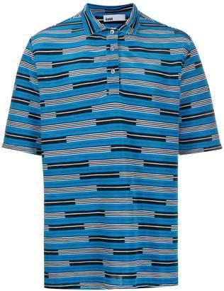 GmbH striped polo shirt