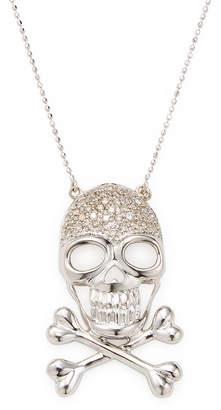 Sydney Evan 14K Diamond Skull Necklace