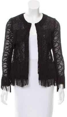 Alexis Crocheted Fringe-Trimmed Jacket
