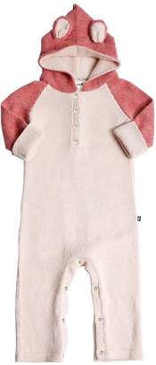 Oeuf Panther Hooded Baby Alpaca Knit Romper