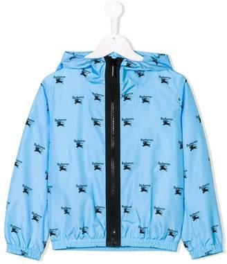 Burberry logo printed hooded jacket