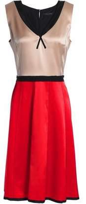Marc Jacobs Color-Block Silk-Satin Dress
