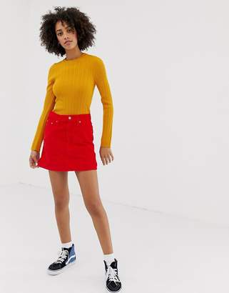 Levi's Levis Cord Mini Skirt In Red