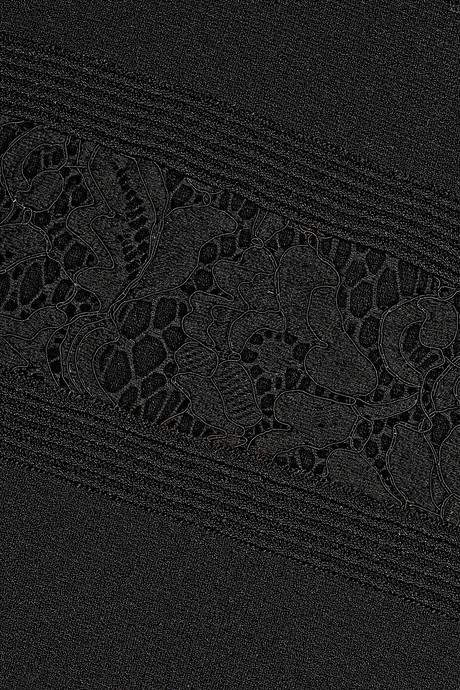Valentino Lace-paneled stretch-knit dress