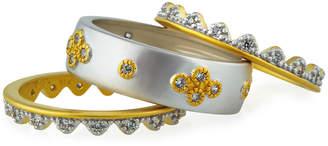 Freida Rothman Visionary Fusion Crown 3-Piece Stacking Ring Set, Size 6