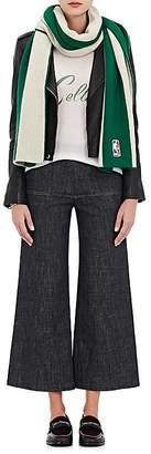 The Elder Statesman X NBA X NBA WOMEN'S BOSTON CELTICS CASHMERE REVERSIBLE SCARF