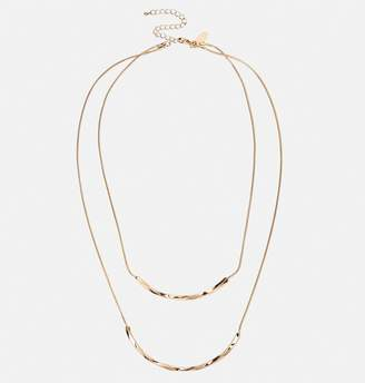 Avenue Gold Twisted Bar Necklace