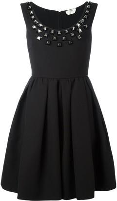Fendi studded crepe dress