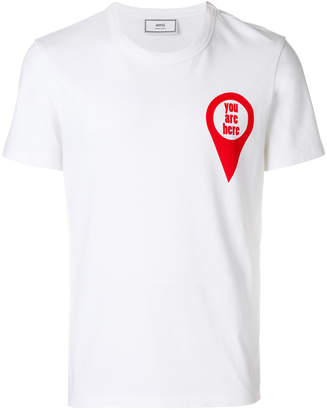 Ami Alexandre Mattiussi crewneck t-shirt red print you are here