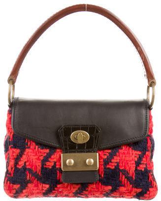 Miu MiuMiu Miu Houndstooth Knit Top Handle Bag