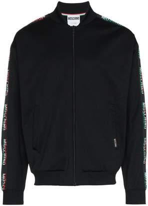 Moschino italian flag logo jacket