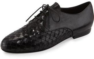 Sesto Meucci Naxos Woven Leather Oxford, Black $420 thestylecure.com