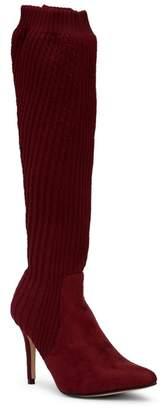 Catherine Malandrino Domhigh Textured Knit Tall Boot