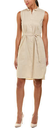 Lafayette 148 New York Harleen Linen-Blend Shirtdress