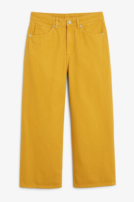 Monki Mozik mustard jeans