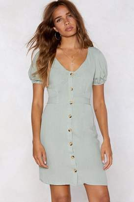 Nasty Gal Puff Up the Volume Button Dress