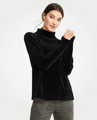 Ann Taylor Petite Chenille Mock Neck Sweater