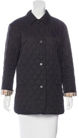 Burberry London Quilted Nova Check-Lined Coat