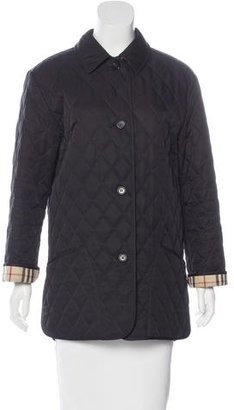 Burberry London Quilted Nova Check-Lined Coat $310 thestylecure.com