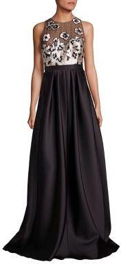 Carmen Marc Valvo Floral Applique Gown $1,295 thestylecure.com