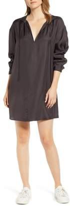 Lou & Grey Shiny Twill Shirtdress