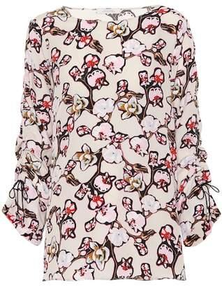 Schumacher Dorothee Daydream Meadow silk-blend blouse