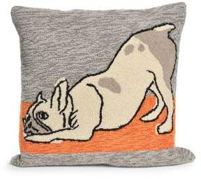 Liora Manné Frontporch Yoga Dogs Indoor and Outdoor Square Pillow