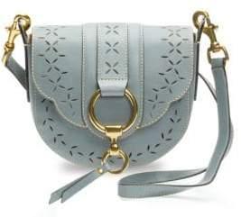 Frye Ilana Small Perforated Leather Saddle Bag